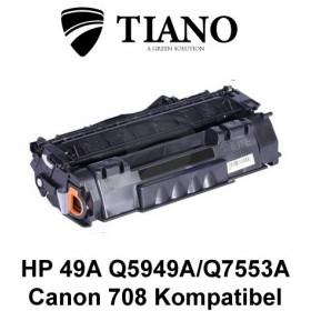 HP 49A Q5949A/Q7553A/CANON CRT-708 sort printerpatron (kompatibel)