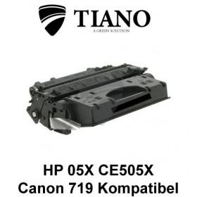 HP 05X CE505X / CANON CRG-719H sort printerpatron (kompatibel)