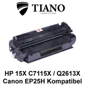 HP 15X C7115X / Q2613X / CANON EP25H sort printerpatron (kompatibel)
