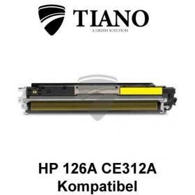 HP 126A CE312A / Canon 729Y gul printerpatron (kompatibel)