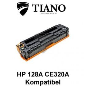 HP 128A CE320A sort printerpatron (kompatibel)