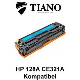 HP 128A CE321A cyan printerpatron (kompatibel)