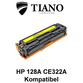 HP 128A CE322A gul printerpatron (kompatibel)