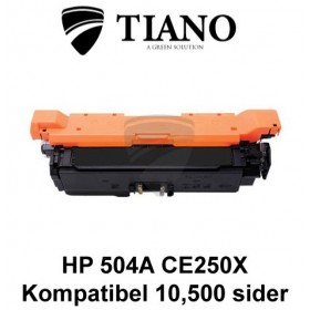 HP 504A CE250X sort printerpatron (kompatibel)