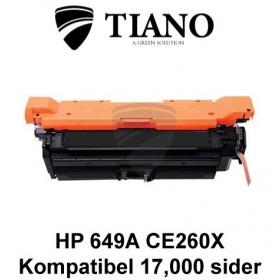 HP 649X CE260X sort printerpatron (kompatibel)