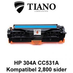 HP 304A CC531A /Canon CRG-718C cyan printerpatron (kompatibel)
