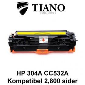 HP 304A CC532A /Canon CRG-718Y gul printerpatron (kompatibel)