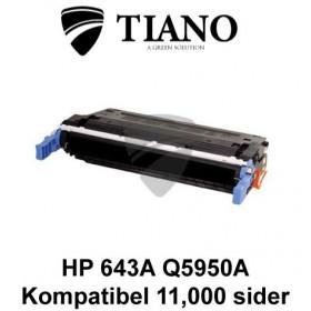 HP 643A Q5950A sort printerpatron (kompatibel)