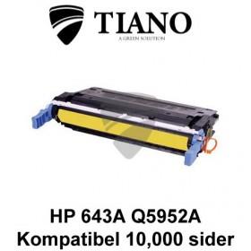 HP 643A Q5952A gul printerpatron (kompatibel)