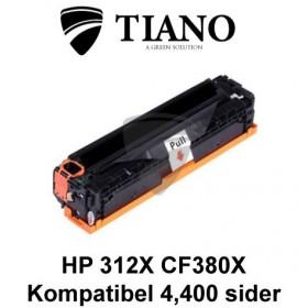 HP 312X CF380X sort printerpatron  (kompatibel)