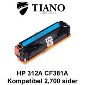 HP 312A CF381A cyan printerpatron  (kompatibel)