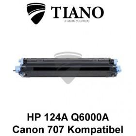 HP 124A Q6000A /Canon 707BK sort printerpatron (kompatibel)