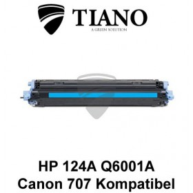 HP 124A Q6001A /Canon 707C cyan printerpatron (kompatibel)