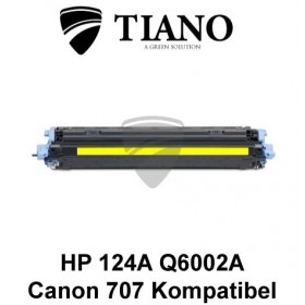 HP 124A Q6002A /Canon 707Y gul printerpatron (kompatibel)