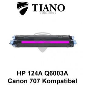 HP 124A Q6003A /Canon 707M magenta printerpatron (kompatibel)
