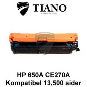 HP 650A CE270A sort printerpatron (kompatibel)