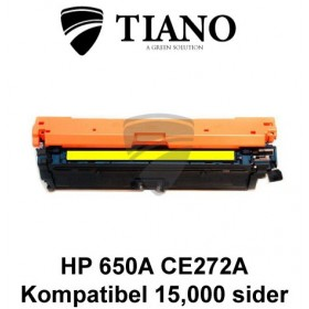 HP 650A CE272A gul printerpatron (kompatibel)