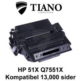 HP 51X Q7551X sort printerpatron (kompatibel)