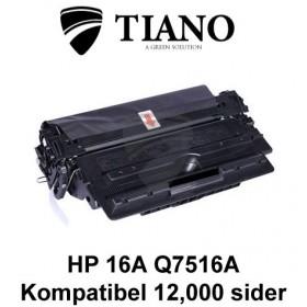 HP 16A Q7516A sort printerpatron (kompatibel)