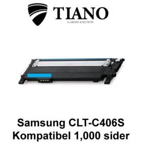Samsung CLT-C406S cyan printerpatron (kompatibel)