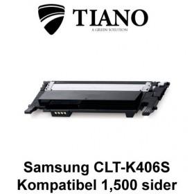Samsung CLT-K406S sort printerpatron (kompatibel)