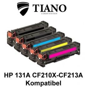 HP 131A CF210X - CF213A Mega pakke 2xBK+C+M+Y 5 stk
