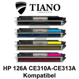 HP 126A CE310A - CE313A Multipakke BK+C+M+Y 4 stk