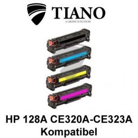 HP 128A CE320A - CE323A Multipakke BK+C+M+Y 4 stk