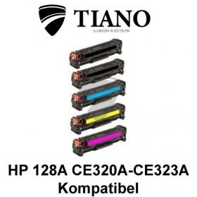 HP 128A CE320A - CE323A Mega pakke 2xBK+C+M+Y 5 stk