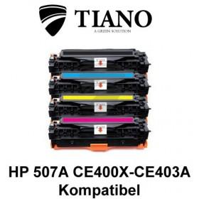 HP 507A CE400X - CE403A Multipakke BK+C+M+Y 4 stk