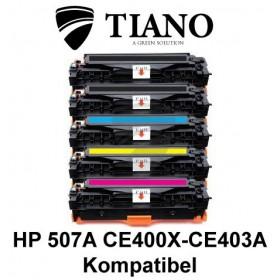 HP 507A CE400X - CE403A Mega pakke 2xBK+C+M+Y 5 stk