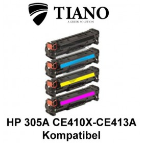 HP 305A CE410X - CE413A Multipakke BK+C+M+Y 4 stk