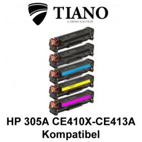 HP 305A CE410X - CE413A Mega pakke 2xBK+C+M+Y 5 stk