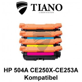 HP 504A CE250X - CE253A Multipakke BK+C+M+Y 4 stk