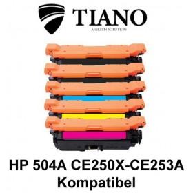HP 504A CE250X - CE253A Mega pakke 2xBK+C+M+Y 5 stk