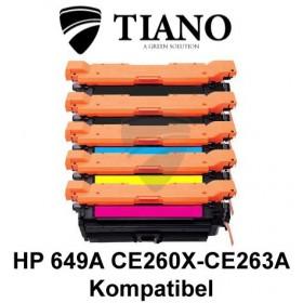 HP 649A CE260X - CE263A Mega pakke 2xBK+C+M+Y 5 stk