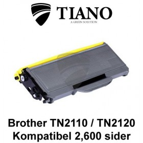 Brother TN2110 / TN2120 sort printerpatron (kompatibel)