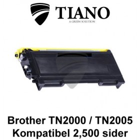Brother TN2000 / TN2005 sort printerpatron (kompatibel)