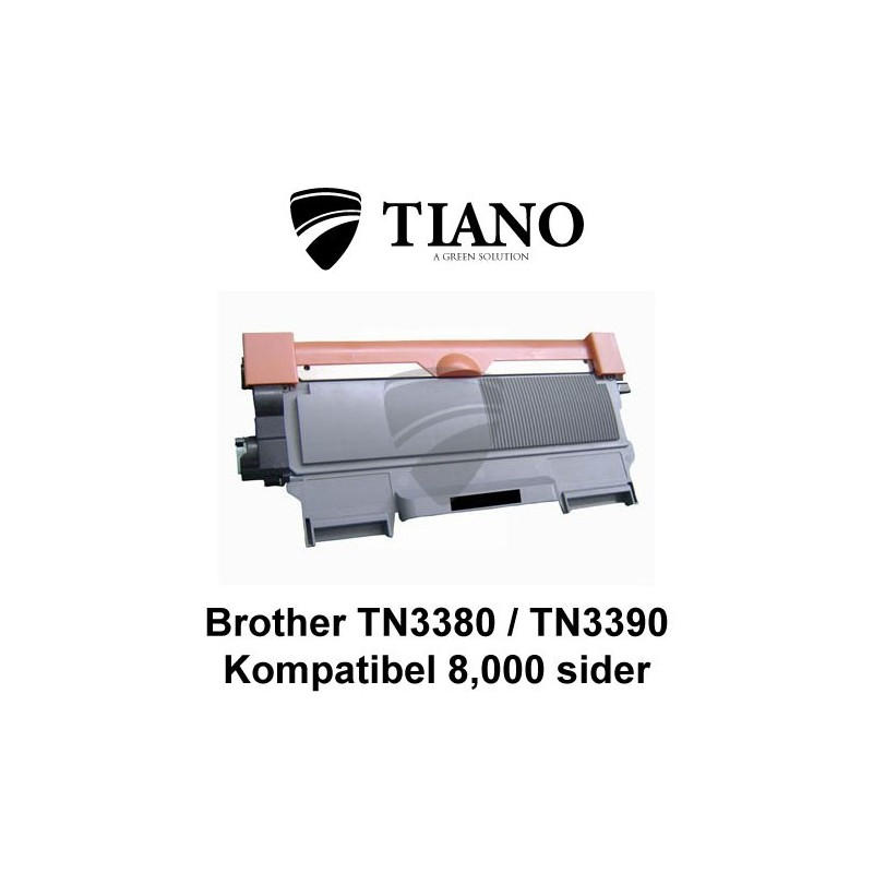 Brother TN3380/ TN3390 sort printerpatron (kompatibel)