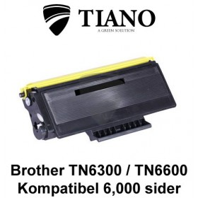 Brother TN6300 / TN6600 sort printerpatron (kompatibel)