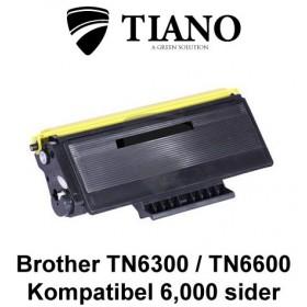 Brother TN6300 / TN6600 sort printerpatron (kompatibel)