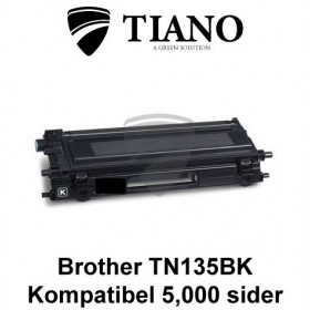 Brother TN135BK sort printerpatron (kompatibel)