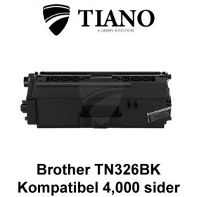 Brother TN326BK sort printerpatron (kompatibel)