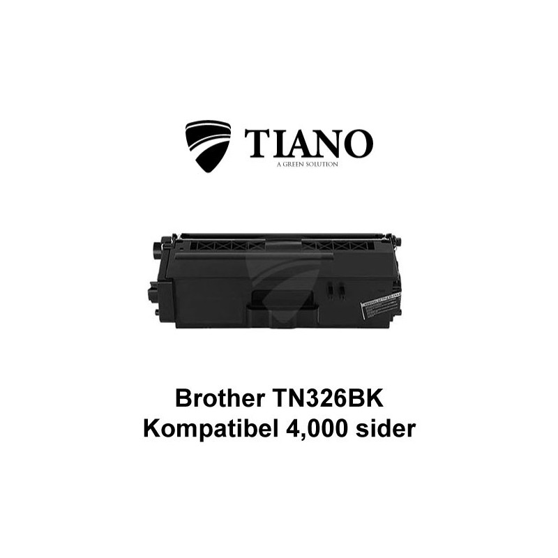 Brother TN326BK sort printerpatron (kompatibel)