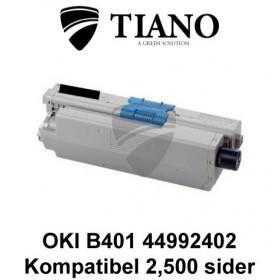 OKI B401 44992402 sort printerpatron (kompatibel)