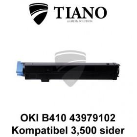 OKI B410 43979102 sort printerpatron (kompatibel)