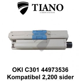 OKI C301 44973536 sort printerpatron (kompatibel)