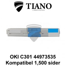 OKI C301 44973535 cyan printerpatron (kompatibel)