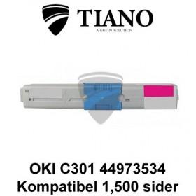 OKI C301 44973534 magenta printerpatron (kompatibel)