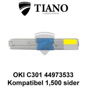 OKI C301 44973533 gul printerpatron (kompatibel)